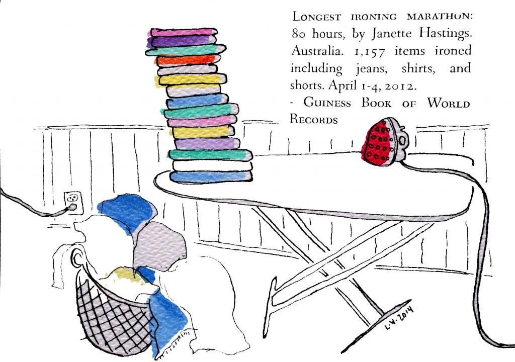 ironing world record